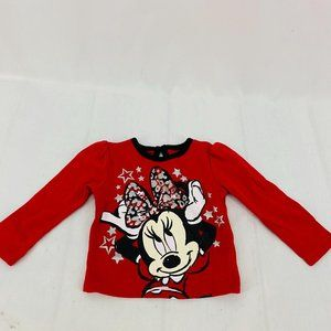 Disney Baby Long Sleeve Red Minnie Mouse Star